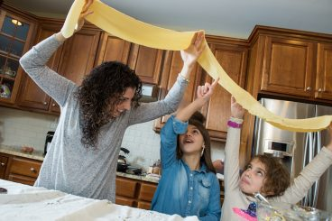Alaina Money Makes Pasta with Kids